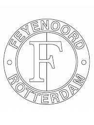 Kids N Fun Kleurplaat Voetbalclubs Nederland Feijenoord