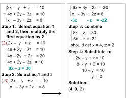 solve systems of equations with 3 variables math 3 math for 1st grade