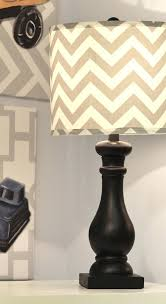 fox lamp nursery chevron shade with black base and cool vintage toy artwork from baby