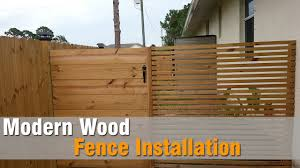 Diy Fence Modern Wood Fence Installation Youtube