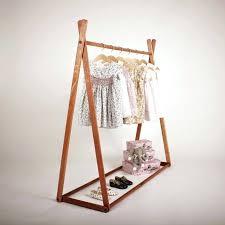 wardrobe racks short clothes rack solid wooden triangle shaped freestanding clothing ikea kids coat home improvement