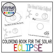 #solar eclipse 2017 #i'm excited #there's so many firebender jokes on my dash. Eclipse Coloring Page Worksheets Teaching Resources Tpt
