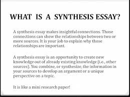 synthesis essay florida standards assessments florida standards  what is a synthesis essay a synthesis essay makes insightful connections