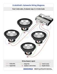 wiring 4 speakers to 2 channel amp annavernon four subwoofers 4 svc 2 ohm 2ch subwoofer wiring diagrams