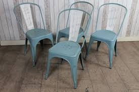 distressed industrial furniture. tolix industrial chairs in blue aged and distressed distressed industrial furniture s