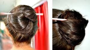 Chopstick Hairstyle 1 min hair bun how to use a hair chopstick or stick youtube 6812 by wearticles.com