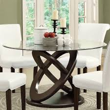 Fancy Round Glass Kitchen Table And Chairs 3 Dining Set Luxury