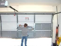installing garage door insulation diy garage door insulation panels
