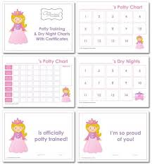 Potty Training Chart For Girls Potty Training Charts Cute Ideas For Bella Potty