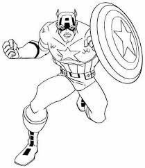 Small Picture Captain America Coloring Pages to Print