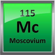 Moscovium or Element 115 Periodic Table Symbol