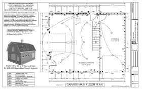 free g440 28 x 36 x 10 gambrel barn work plans blueprint