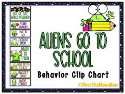 Alien Chart Aliens Go To School Behavior Clip Chart
