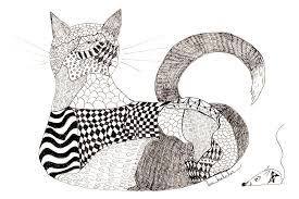 Quilt Cat And Checkers Drawing by Lou Belcher & Quilt Drawing - Quilt Cat And Checkers by Lou Belcher Adamdwight.com