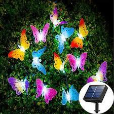 led solar power erfly fairy string