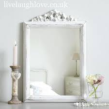 ... Full Image for French 30s Style Antique White Shabby Chic Wall Mirror  With Drawers Shabby Chic ...