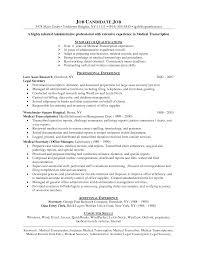 Medical Transcription Resume Samples Medical Gallery For Website Medical Transcription Resume Examples 13