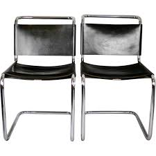 pair of chairs b33 by marcel breuer for dino gavina 1950s