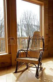 rustic wooden rocking chairs. Beautiful Wooden Rustic Wood Rocking Chair By Window Stock Photo  4536076 In Rustic Wooden Rocking Chairs U
