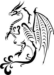 Svg стилистический тату азиатка дракон свободное изображение и