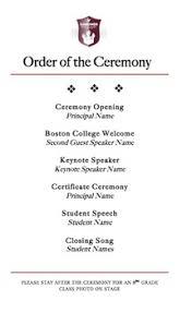 Graduation Program Template By Michelle Sanchez Tpt