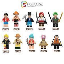 Xếp Hình Minifigures Các Nhận Vật One Piece Vua Hải Tặc - Đồ Chơi Lắp Ráp  non-lego KF6037 [B1] giá cạnh tranh