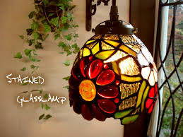 antique stained glass pendant lamp margaret flower s624 e17 light fixture brass color retro french country glass lighting pendant lights goods through
