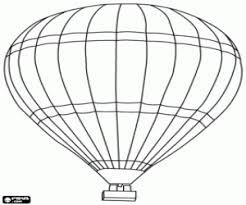 Kleurplaat Luchtballon Met Het Rechthoekig Mandje Kleurplaten