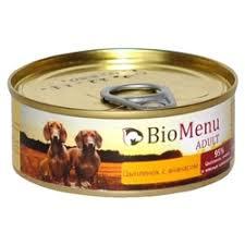 Корм для собак <b>BioMenu Adult консервы</b> для собак с цыпленком и ...