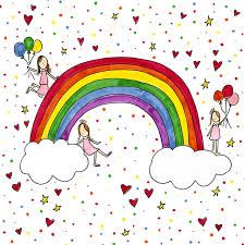 In this post you will find rainbow coloring pages, but if you want search more Rainbow Coloring Page Darcy Miller Designs
