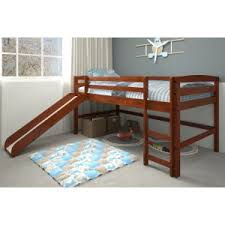 kids bunk bed with slide. Contemporary Kids Woodcrest Pine Ridge Mini Loft With Ladder On Kids Bunk Bed With Slide L