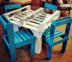 Majestic Diy Pallet Furniture Table Chairs Set Diy Pallet Furniture  Tutorials Green Living Guide in Furniture