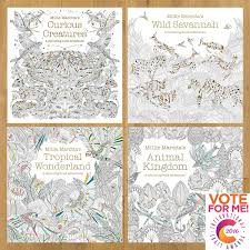 millie marotta s hugely por colouring book range has been shortlisted in the best colouring book 2018 in the international craft awards
