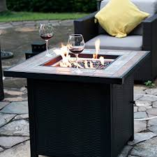 outdoor fire table. LP Gas Fire Table 30-in W 50000-BTU Propane Fireplace Outdoor I