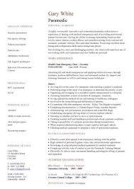 ... Paramedic CV sample fie Pinterest - paramedic job description ...