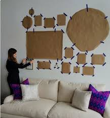 wall collage planning idea source