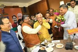 ஹரியானா மனோகர் கட்டார் முதல்வராக மீண்டும் தேர்வு