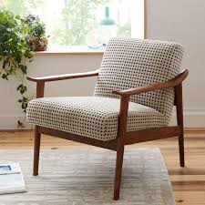 ... Popular Of Small Upholstered Armchair Mid Century Show Wood Chair West  Elm ...