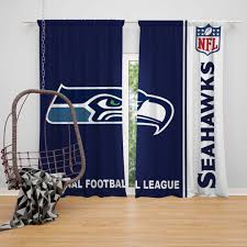 nfl seattle seahawks bedroom curtain