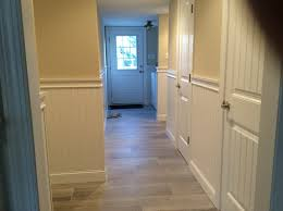 hallway wainscoting and chair rail moulding mantoloking nj