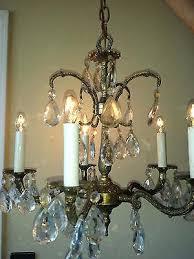 vintage brass and crystal chandelier vintage brass crystal chandelier 5 arm vintage spanish brass crystal chandelier