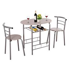 giantex 3 piece dining set pact 2 chairs and table set with metal frame and shelf storage bistro pub breakfast e saving for apartment and kitchen