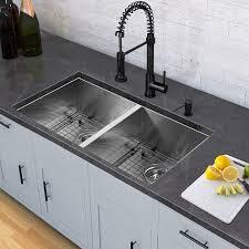 Black Undermount Kitchen Sinks Vigo All In One 32 Inch Stainless Steel Undermount Kitchen Sink