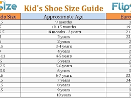 High Quality Printable Shoe Size Chart For Toddlers Bump