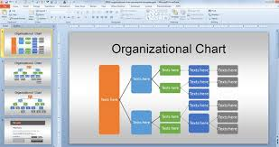 How To Do An Org Chart In Powerpoint 2010 Free Org Chart Powerpoint Template