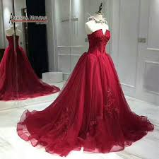 wine red wedding. 2018 New Wine Red Wedding Dress Back Lace Up Real Pictures in