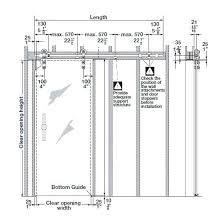 length of sliding glass door shock pocket dimension medium size 3 panel interior design 7