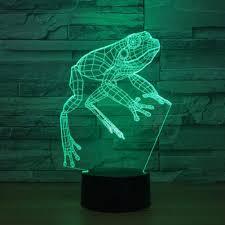 Frog Lights Led Kaiyed 3d Night Light Frog 3d Night Light Led 7 Colors Usb