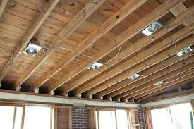 installing recessed lighting in finished ceiling installing
