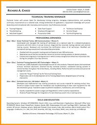 Technical Trainer Resume Training Manager Resume Fascinating Training Executive Resume Sample